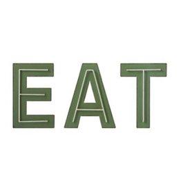 Creative Co-op EAT Metal Decor -  Set of 3