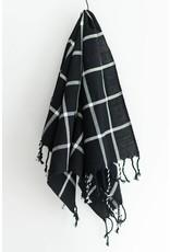 Fair & Simple Fair + Simple - Woven Hand Towel in Black Grid