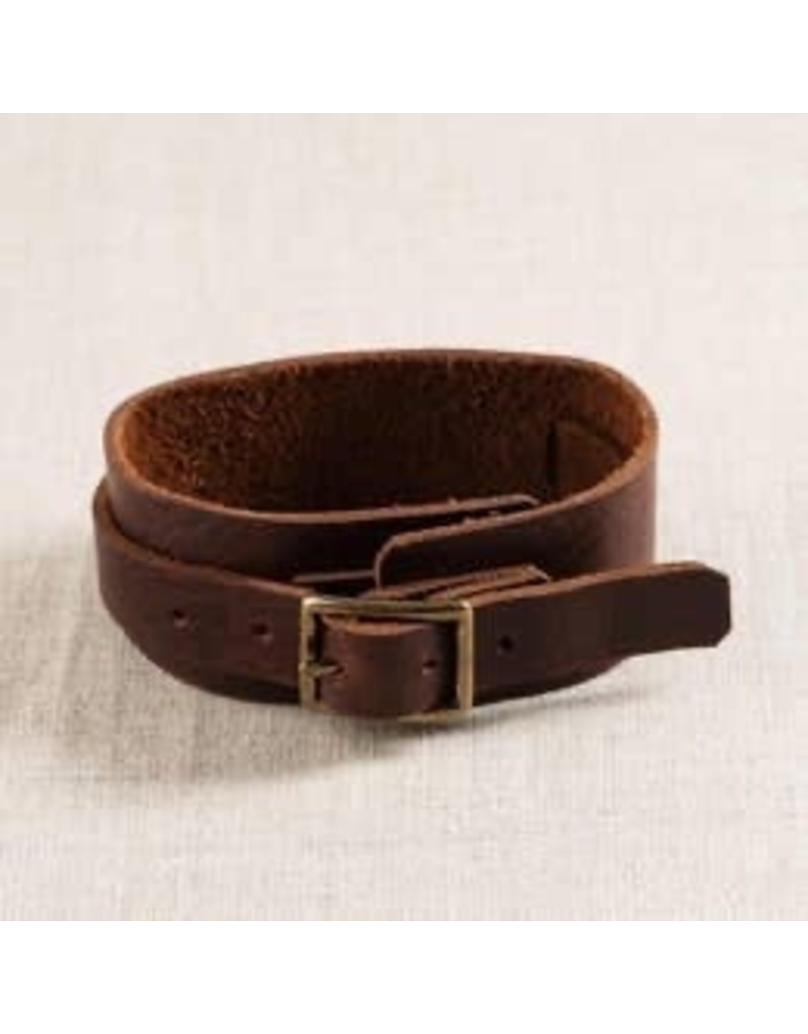 Repurposed On Purpose Leather Cuff