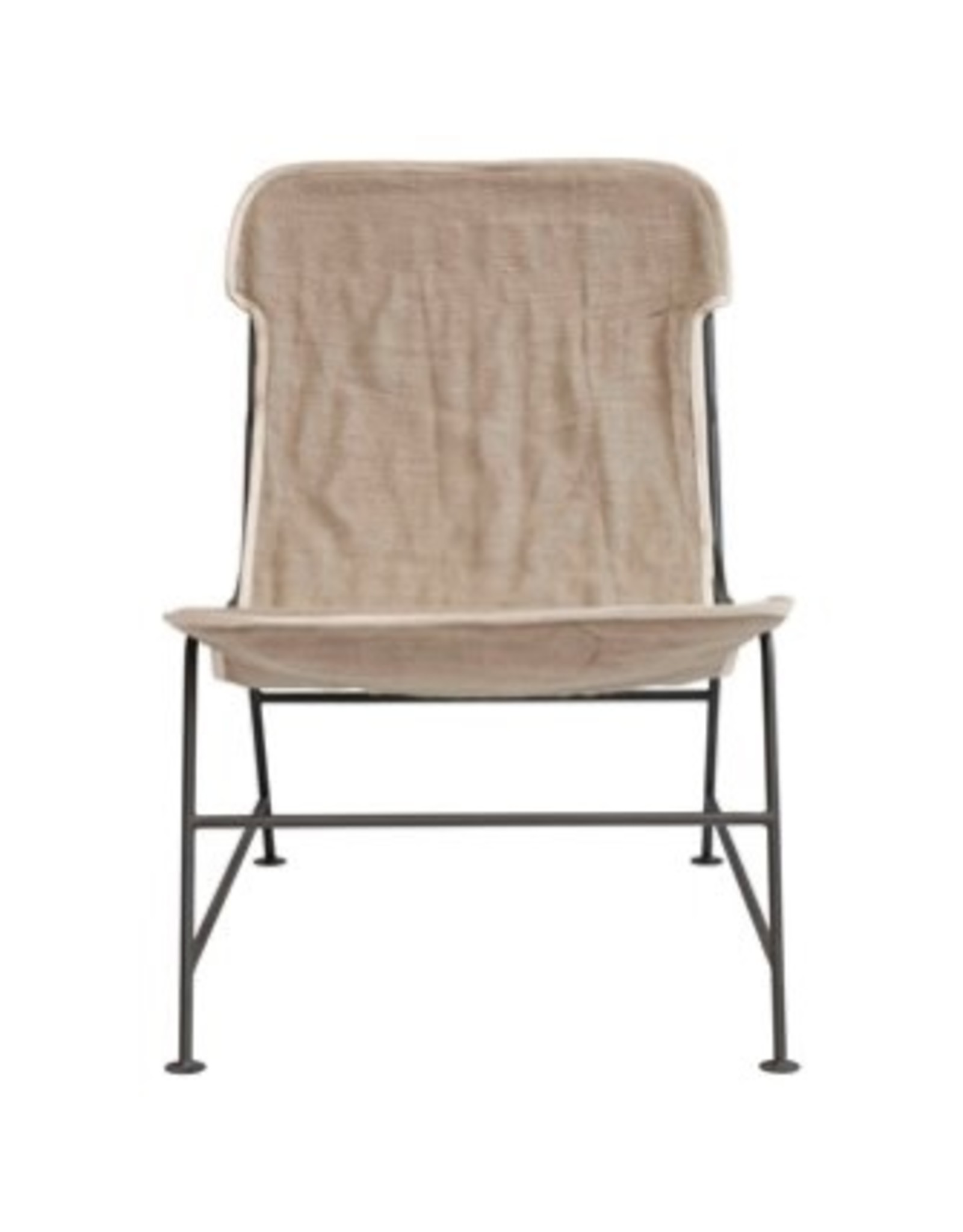 Creative Co-op Reclined Linen Sling Chair