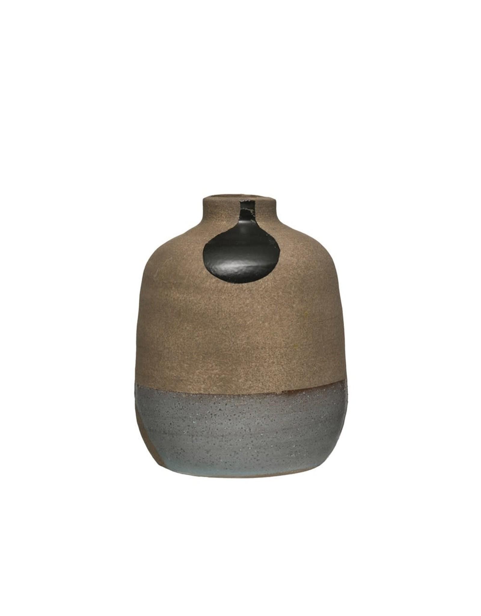 """Creative Co-op Terracota 6"""" Painted Vase"""