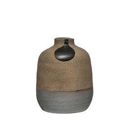 "Creative Co-op Terra cotta 6"" Painted Vase"