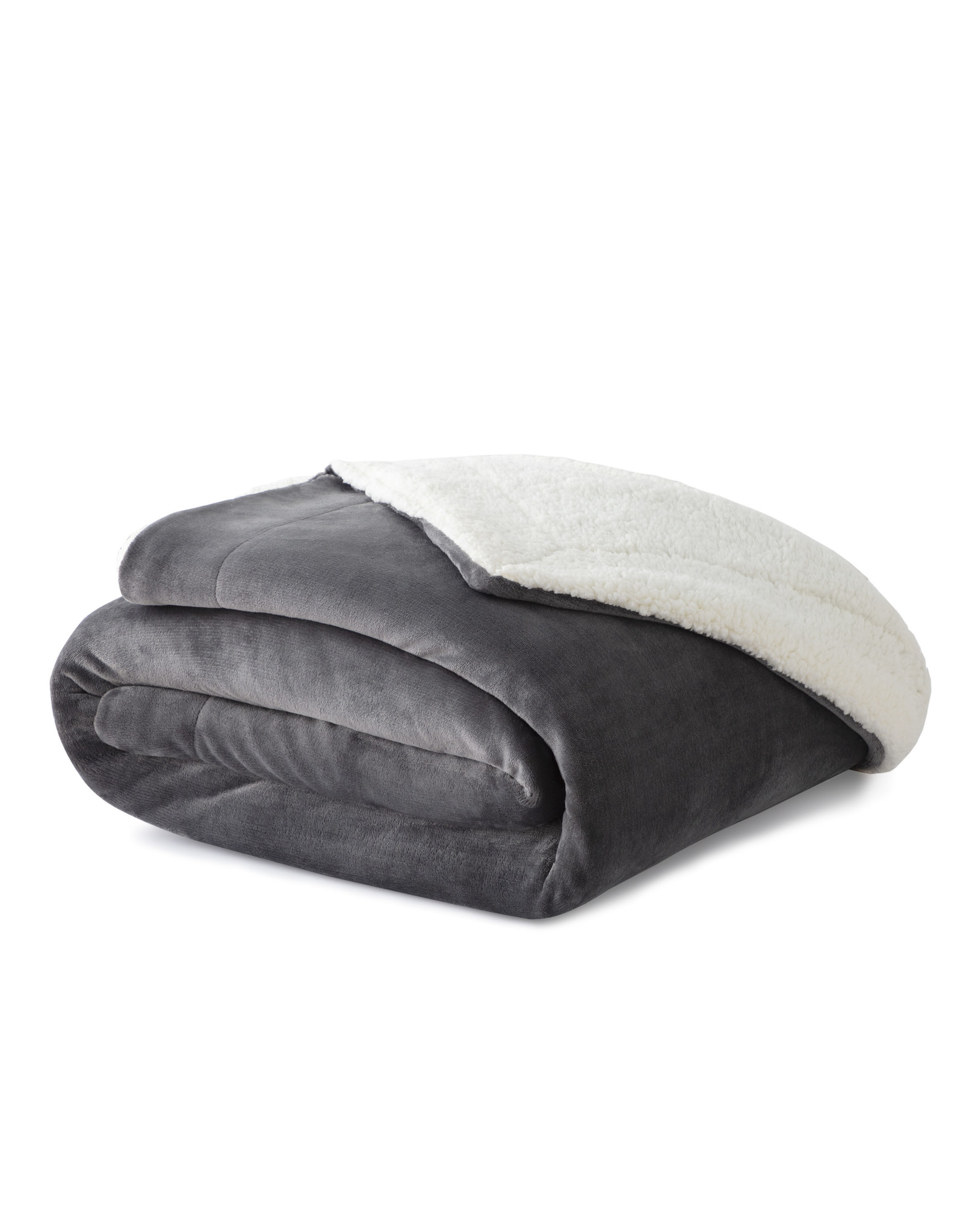 Malouf Sherpa Blanket - Gray