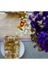 "Ichcha 20"" x 20"" 100% Cotton Gold Print Napkins Set of 4"