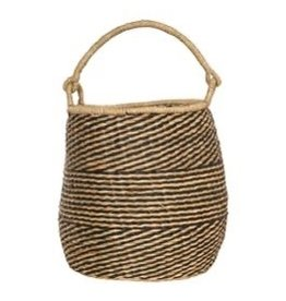 """Bloomingville 15"""" Round Hand-woven Seagrass Basket w/handles"""
