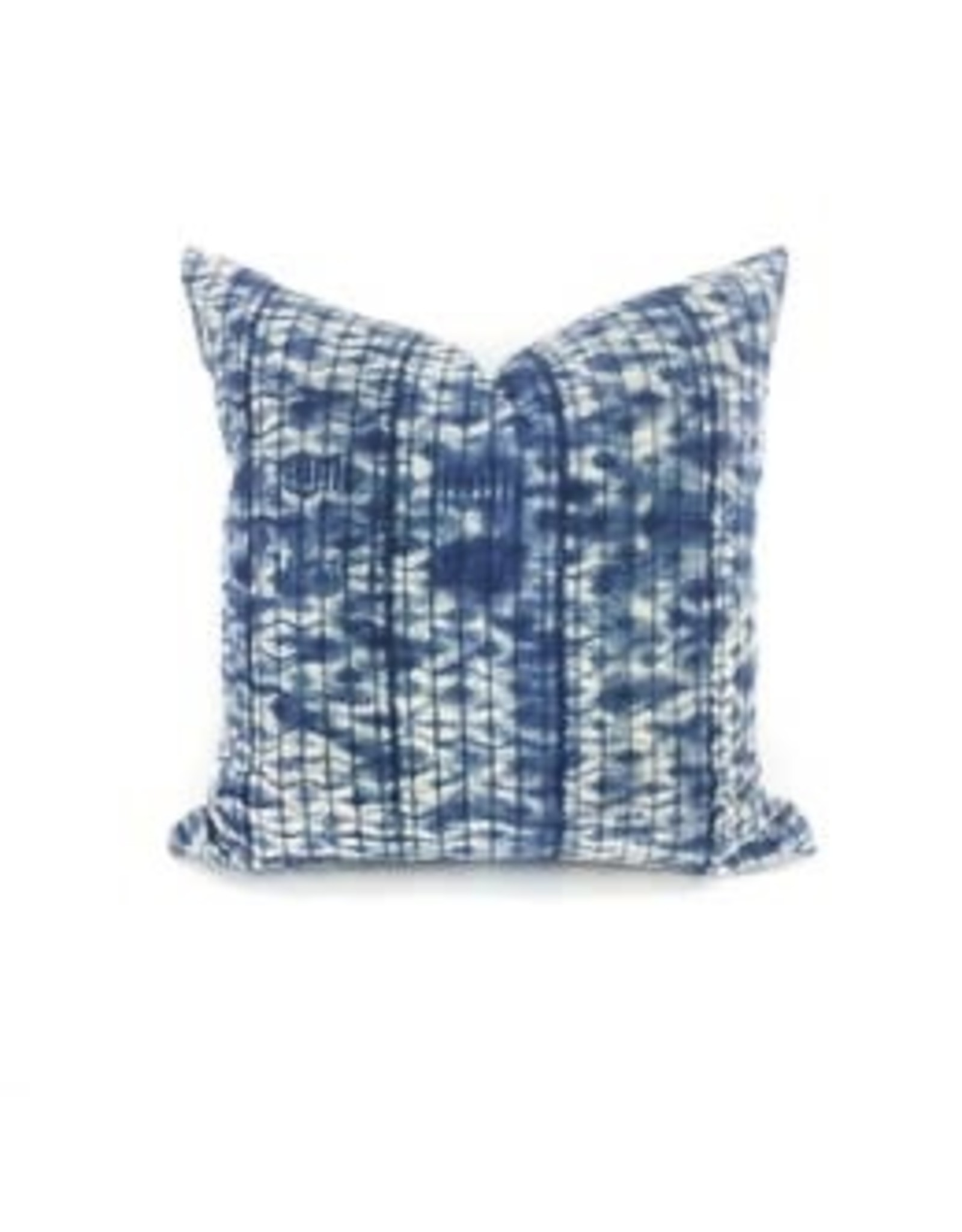 "Heddle & Lamm 18"" Faded Blue Vintage Tie Dye Pillow"