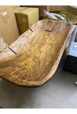 "Jason Eric 21 1/4"" Hand-carved wood dough bowl"