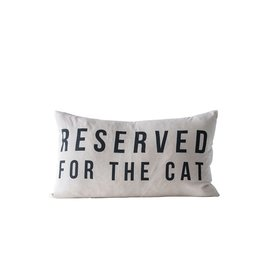 """Creative Co-op 24"""" x 14"""" Reserved for the Cat Pillow"""