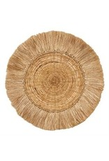 """Bloomingville 28"""" Round Hand-Woven Rattan & Abaca Wall Decor"""