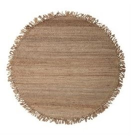 Bloomingville 4' Round Hand-Woven Jute Rug w/Fringe