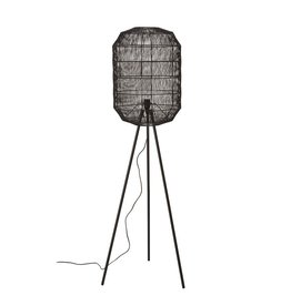 "Bloomingville 63"" Black Metal Floor Lamp With Paper Rope Shade"