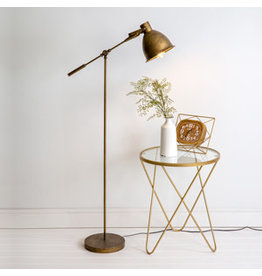 CTW Antique Brass Floor Lamp