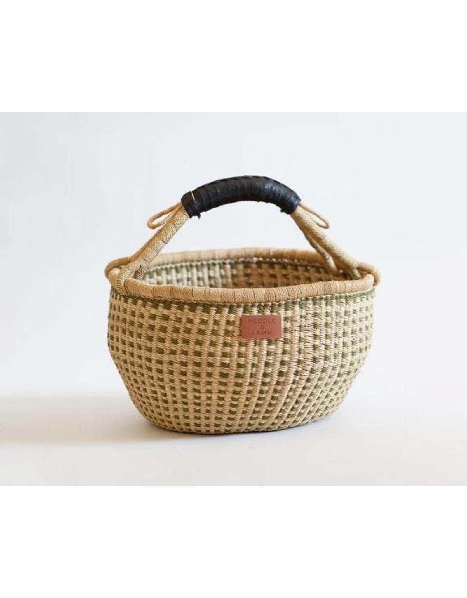 Heddle & Lamm Bolga Basket - Black Leather Handle