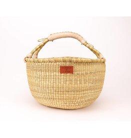 Heddle & Lamm Bolga Basket - natural handle