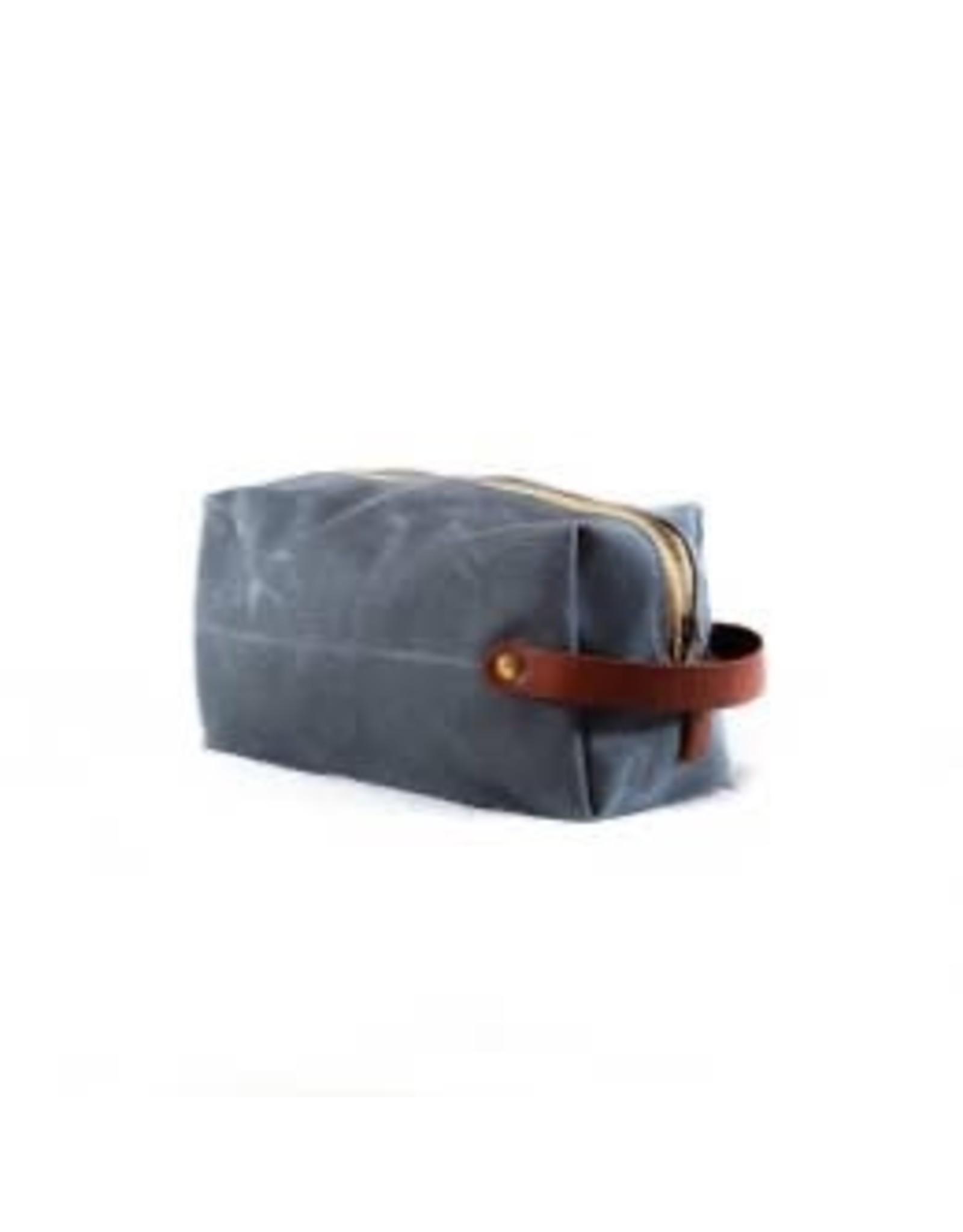 Lineage Dopp Kit w/Brass Zipper - Charcoal