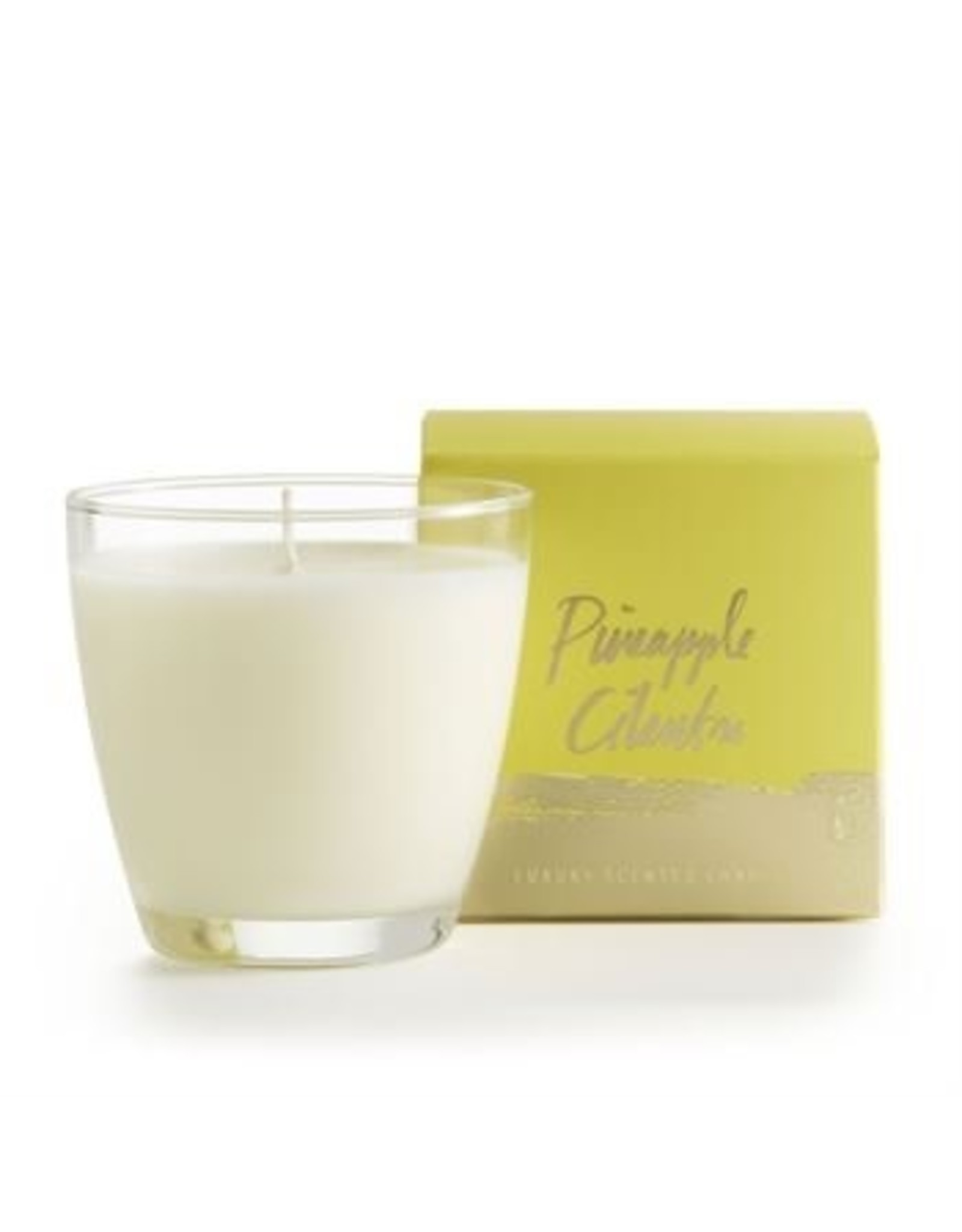 Illume Pineapple Cilantro Glass Candle - 4.7oz