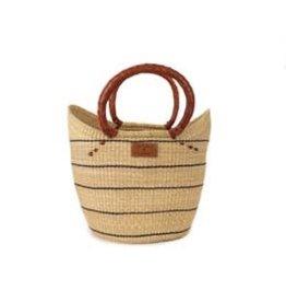 Heddle & Lamm Stripped Weaved Shopper Bag