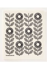 The Florist & The Merchant Black Sunflower Swedish Dishcloth