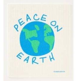 Three Bluebirds Peace on Earth Swedish Dishcloth
