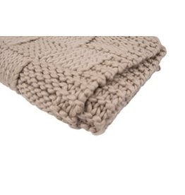 Creative Co-op Chunky Knit Throw - Natural Color
