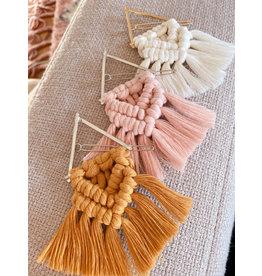 Timber Rose Designs Macrame Hair Clip - Pink