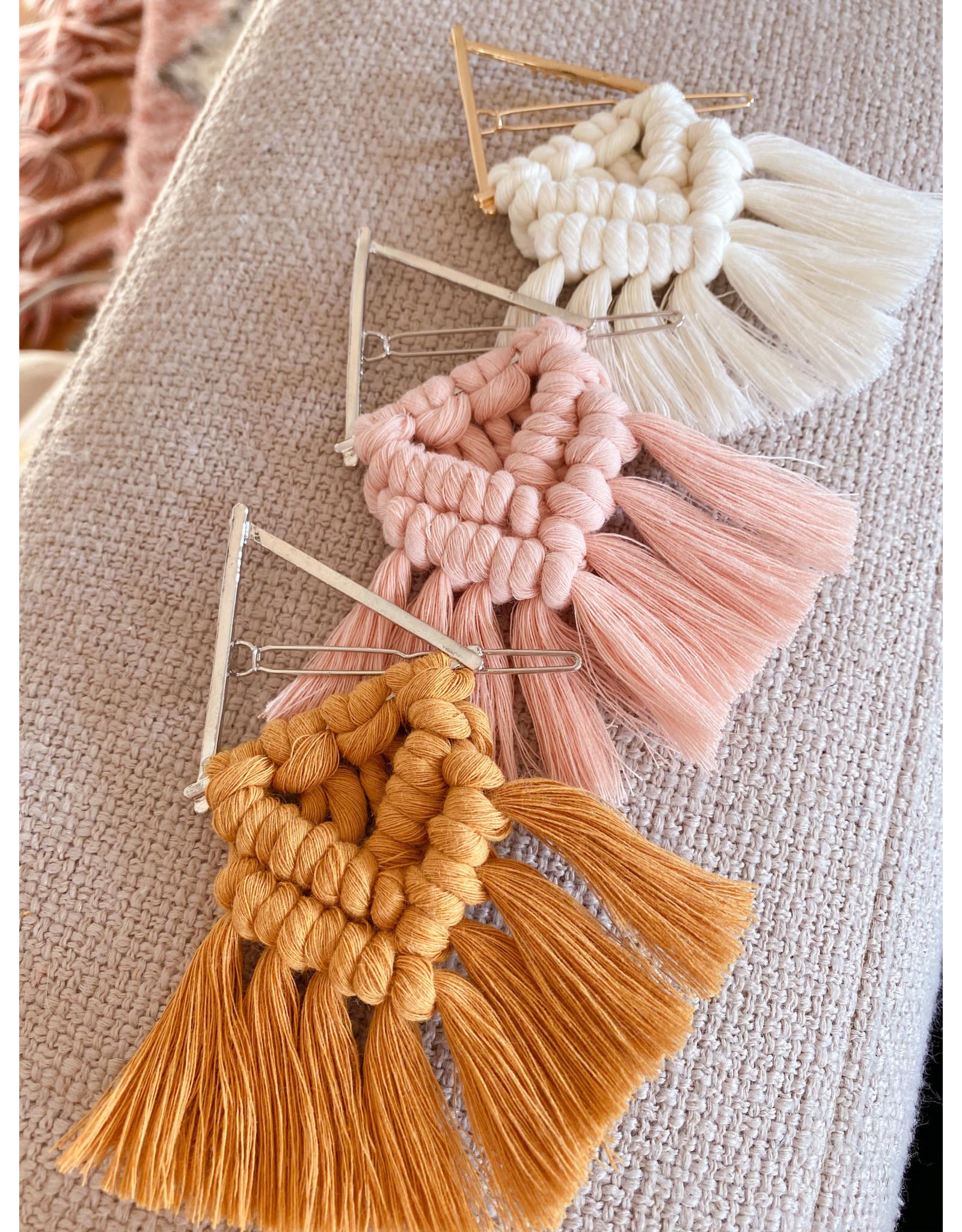 Timber Rose Designs Macrame Hair Clip - Natural