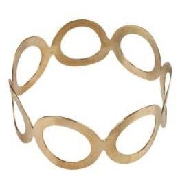 Repurposed On Purpose Small Circle Brass Bracelet