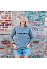 The Florist & The Merchant Homebody Sweatshirt - Dk Grey - Small