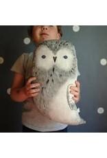 Handy Happy Arctic Owl Hand-painted Pillow