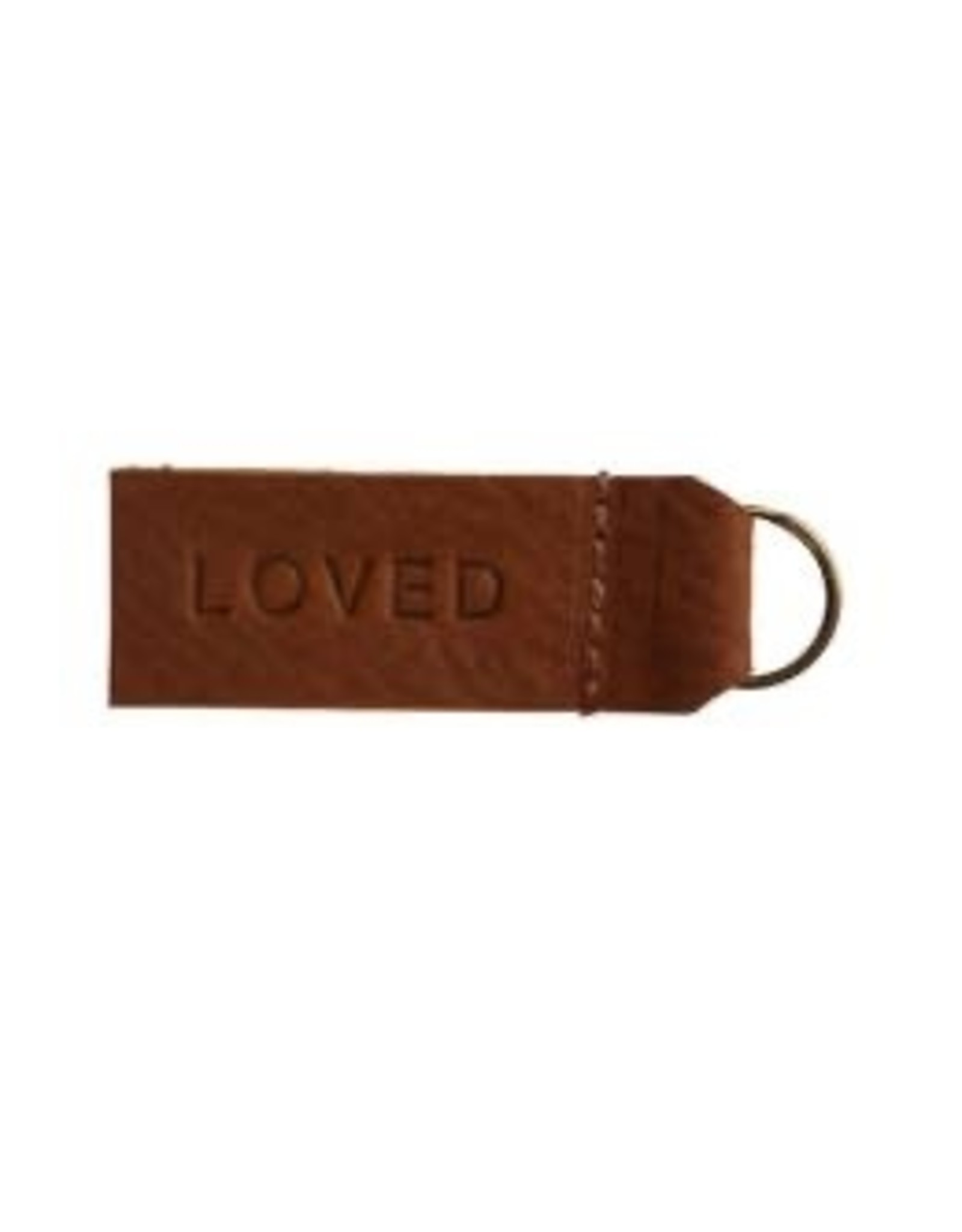 Repurposed On Purpose Loved Leather Keychain