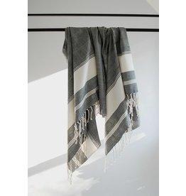 Fair & Simple Woven Towel - Cream with Black
