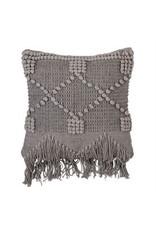 Bloomingville Grey Fringe Pillow