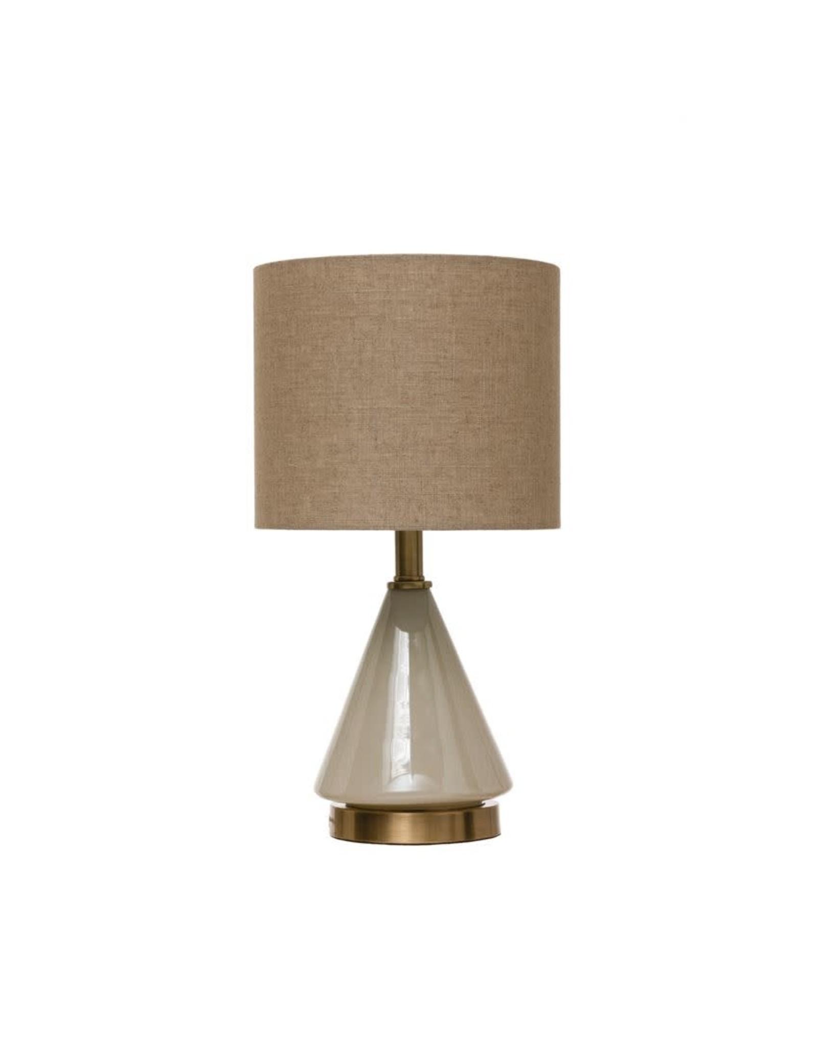 Bloomingville Round Glass Table Lamp - Cream