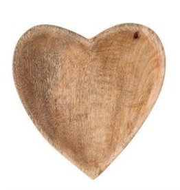 """Bloomingville 6 1/4"""" Hand carved Mango Wood Heart"""
