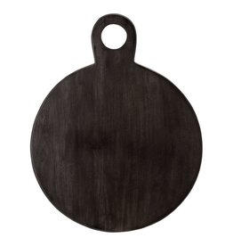 "Bloomingville 18 3/4"" Acacia Black Wood Cutting Board"