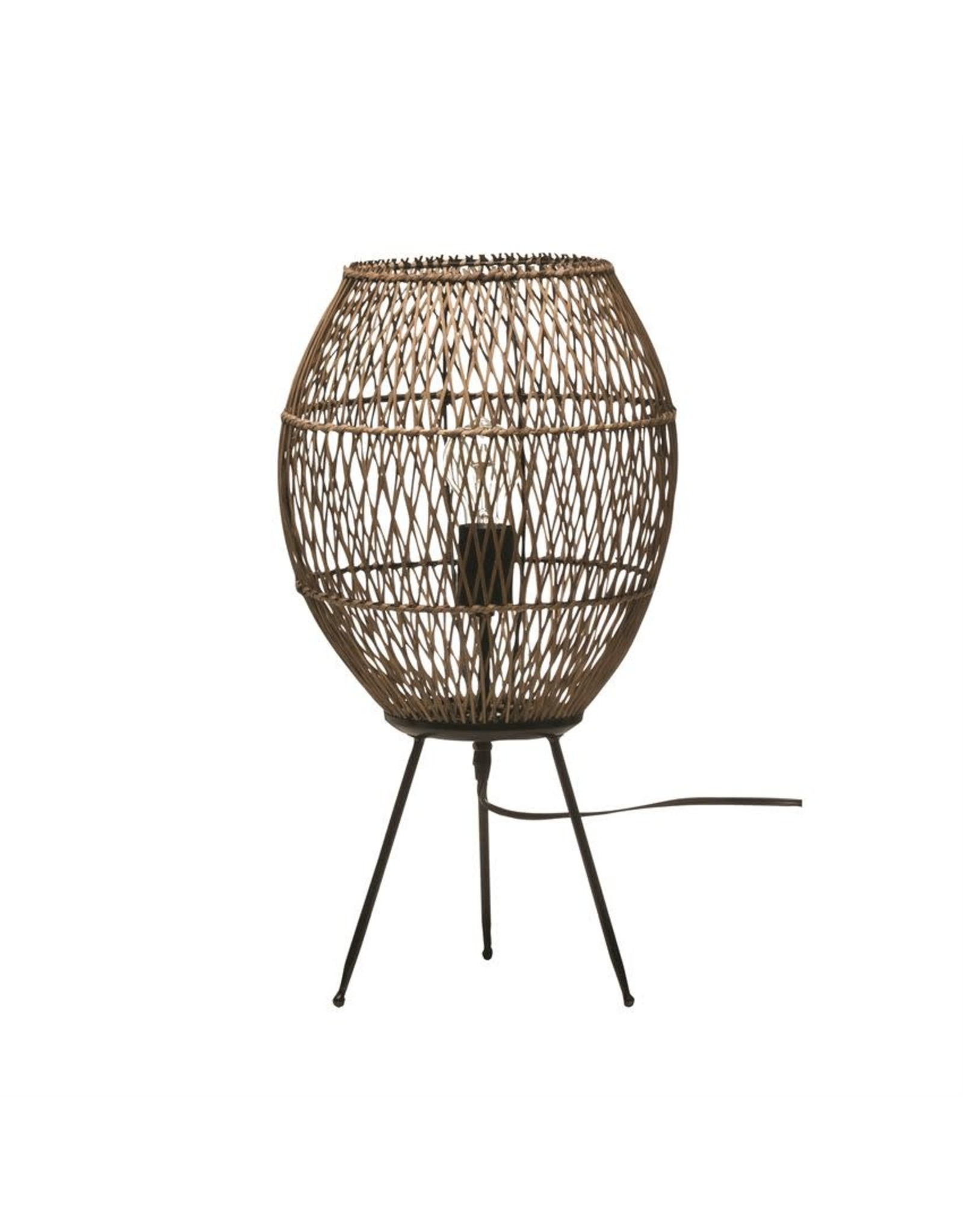"""Bloomingville 12""""x 22"""" Hand-woven Bamboo & Rattan Table Lamps"""
