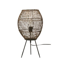 "Bloomingville 12""x 22"" Hand-woven Bamboo & Rattan Table Lamps"