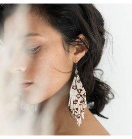 Fair & Simple Fair + Simple -Beaded Fringe Earrings in Neutral