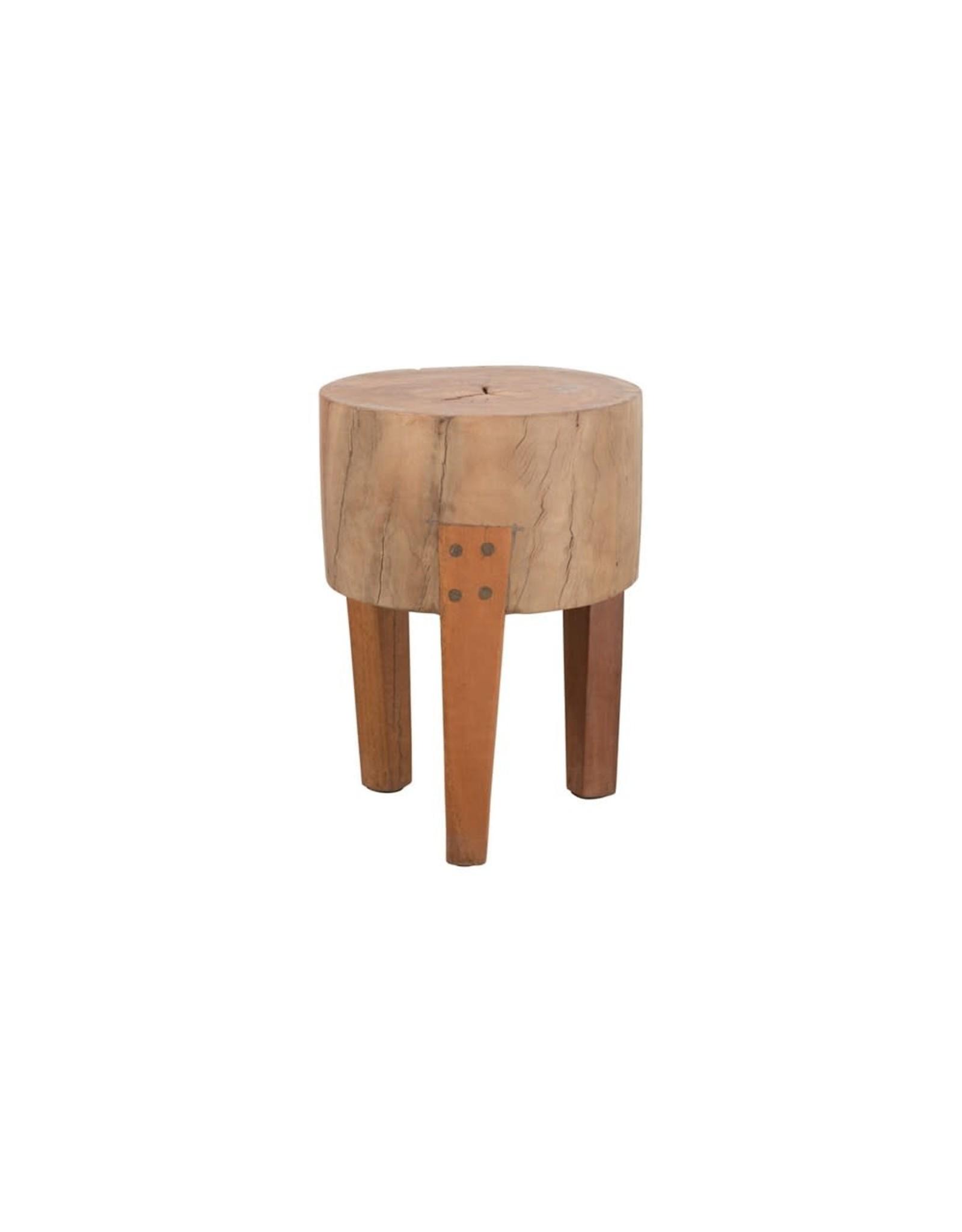 "Creative Co-op 13"" x 18"" reclaimed wood side table"