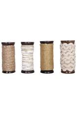 Creative Co-op Metallic Ribbon Spools - 10 yd - Gold Rope