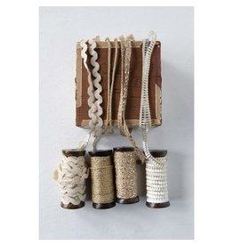 Creative Co-op Metallic Ribbon Spools - 10 yd - Jute Ribbon