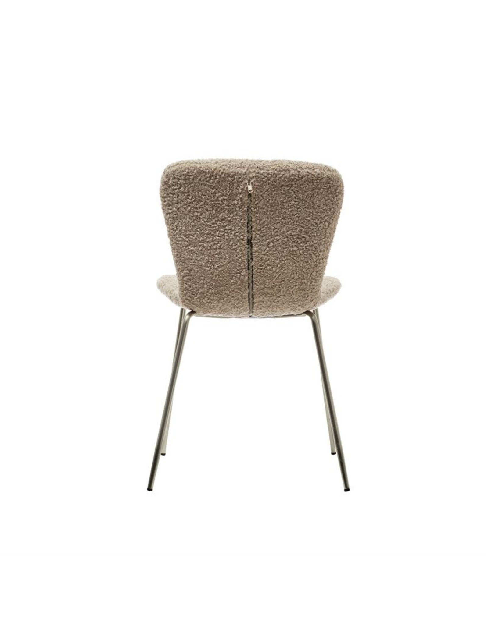 Bloomingville Boucle Fabric Upholstered Chair - Cream