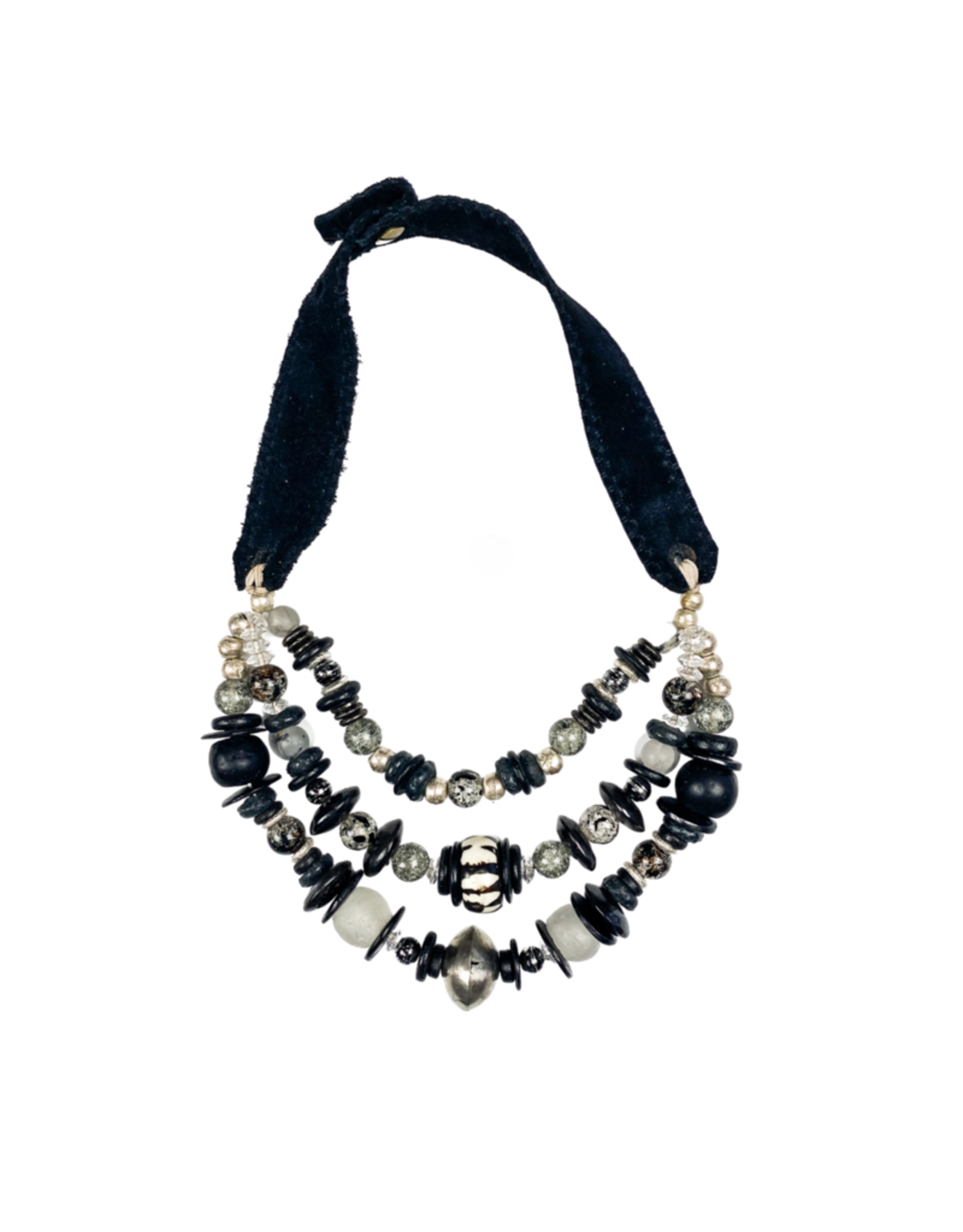 Twine & Twig Layered Classic Necklace - Graphite