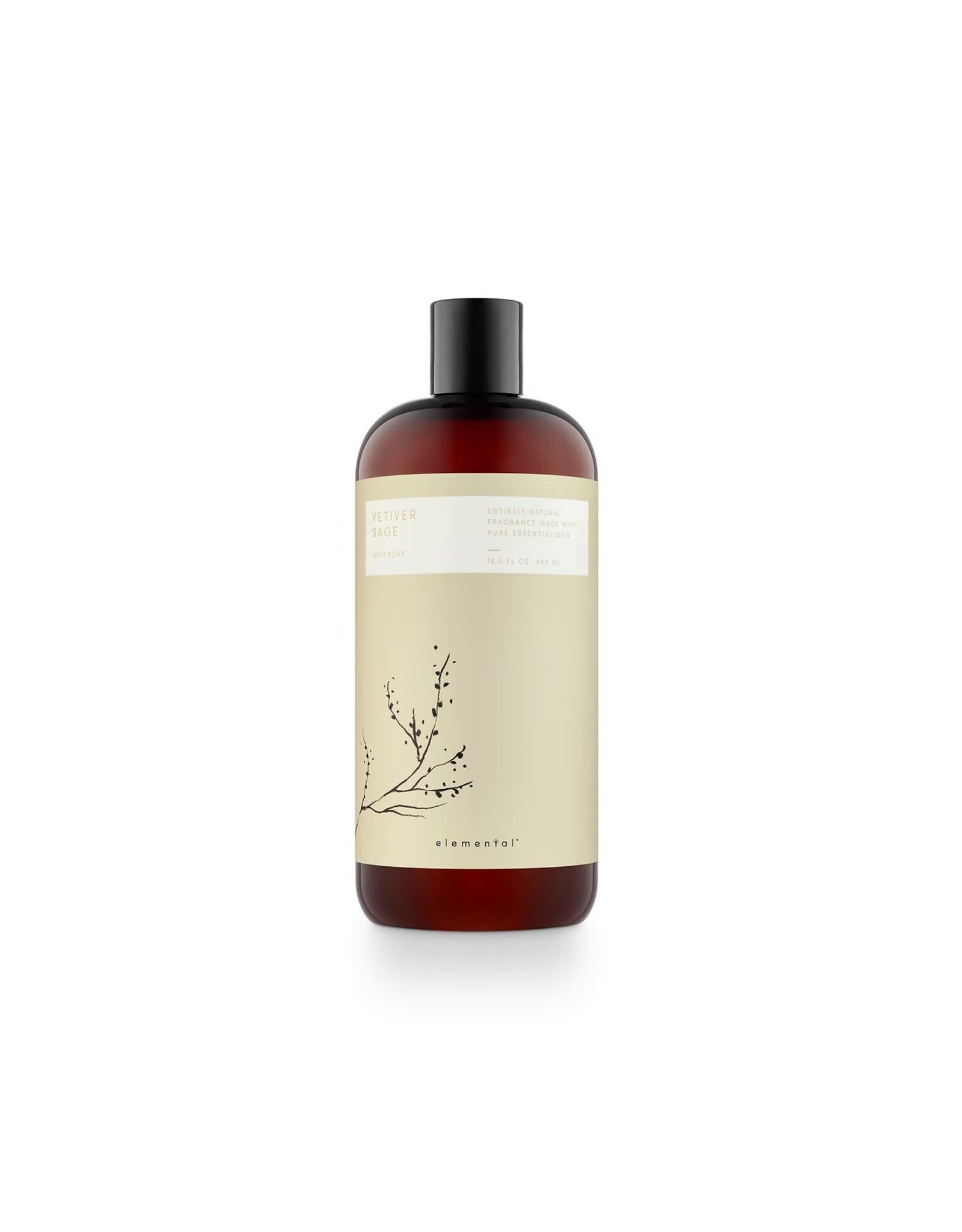 Elemental Vetiver Sage Dish Soap