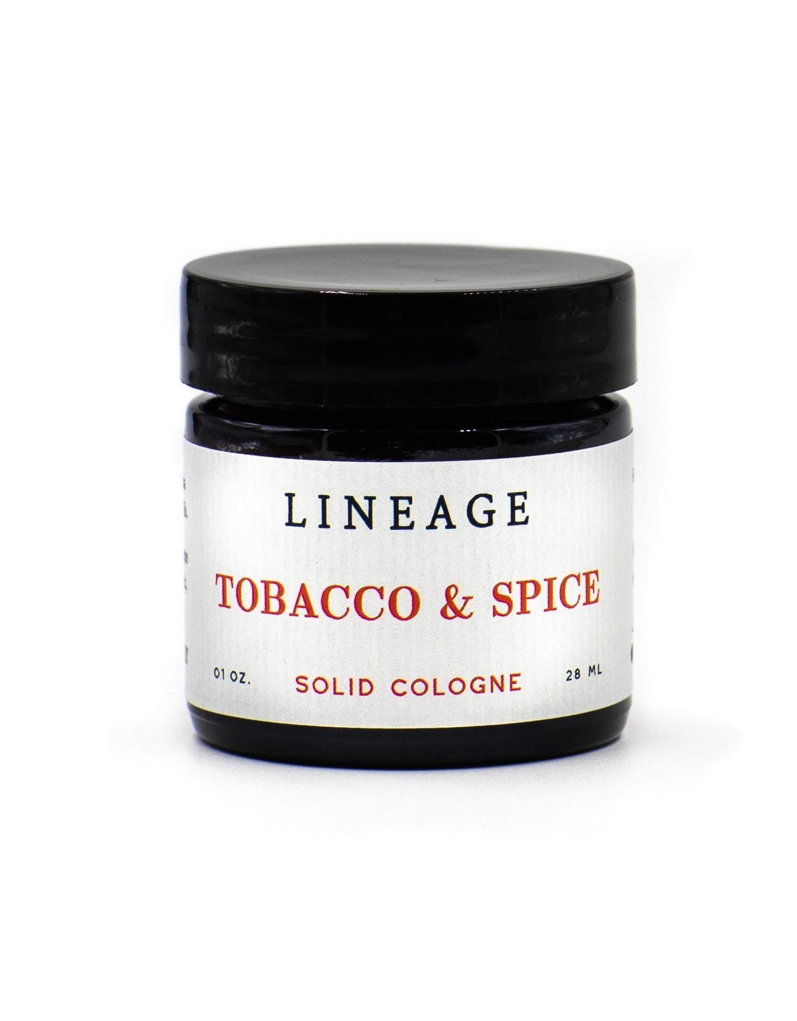 Lineage Tobacco & Spice Solid Cologne