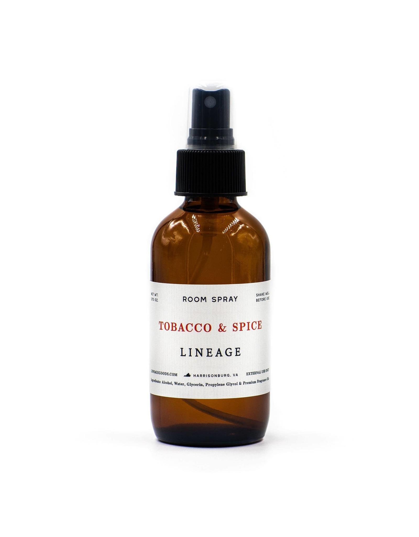 Lineage Tobacco & Spice Room Spray