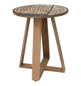 Bloomingville Hand Carved Mango Wood Side Table