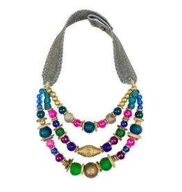 Twine & Twig Jewel tone Multi-Layered Necklace