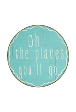 """Creative Co-op 20"""" Metal Wall Decor - Oh The Places"""