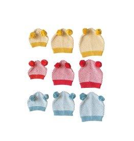 Creative Co-op Cotton Knit PomPom Hat